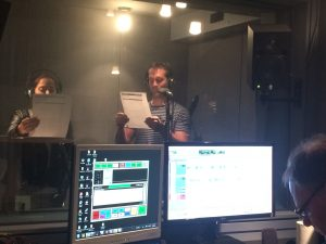 Dan Reilly recording for ICM Geelong at Bay FM
